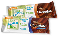Eat Well, Be Well Sugar Free Chocolate Bars